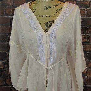 Sacred Threads embroidered blouse